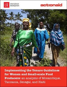 Implementing the Tenure Guidelines for Women and Small-scale Food Producers