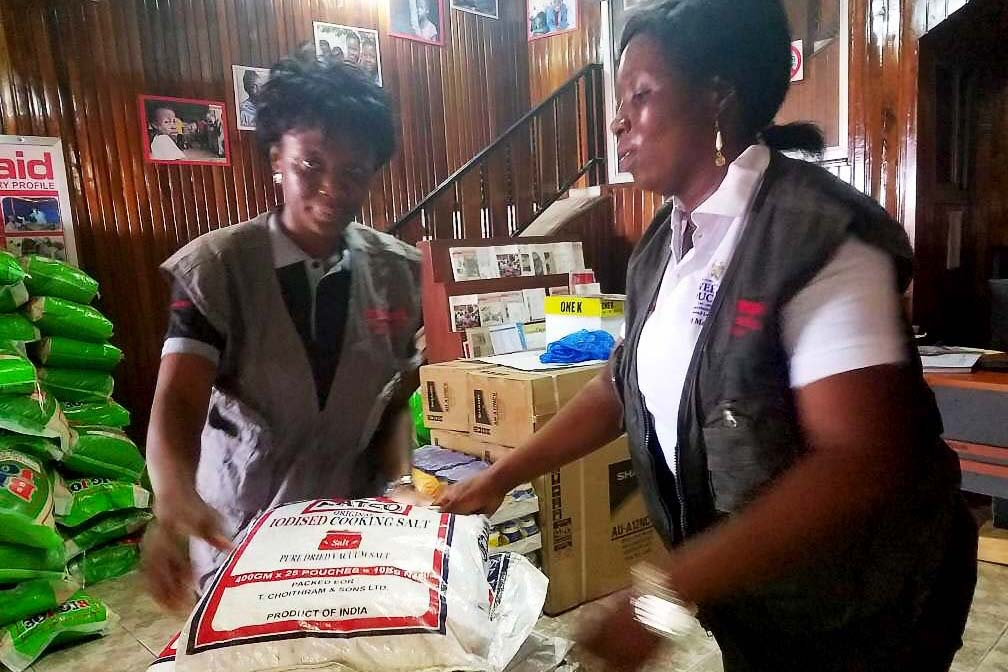 ActionAid delivered food to thousands of people in Sierra Leone following the mudslides.