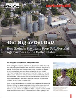 """Get Big or Get Out"": How Biofuels Programs Prop Up Industrial Agribusiness in the United States"