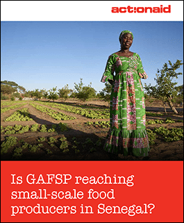 Is GAFSP reaching small-scale food producers in Senegal?