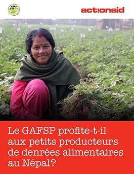 Le GAFSP permet-il de toucher les petits producteurs de denrées alimentaires au Népal