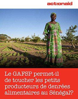 Le GAFSP permet-il de toucher les petits producteurs de denrées alimentaires au Sénégal?