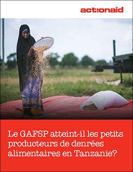 Le GAFSP atteint-il les petits producteurs de denrées alimentaires en Tanzanie?