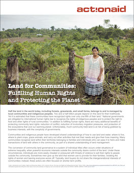 Land for Communities: Fulfilling Human Rights and Protecting the Planet