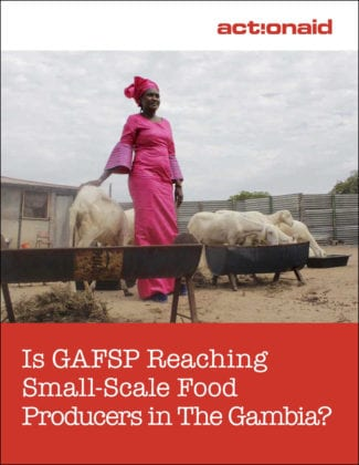 Is GAFSP Reaching Small-Scale Food Producers in The Gambia?