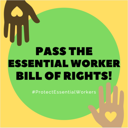 Tell Congress: Essential workers deserve essential protections