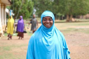 Community facilitator and cosmetologist Sadiya Usman is training women to make soap.