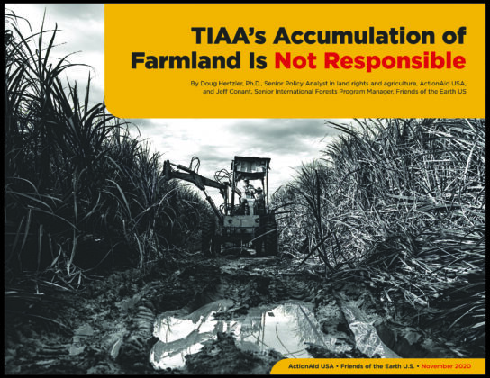 TIAA's Accumulation of Farmland Is Not Responsible