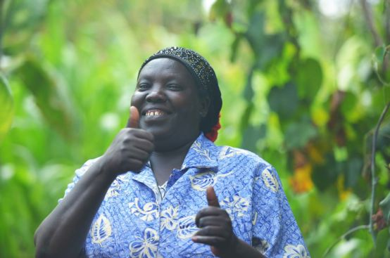 Farmer Rose saw an increase in her crop yield after she participated in the PFA project in Kenya. Photo: Allan Gichigi/ActionAid